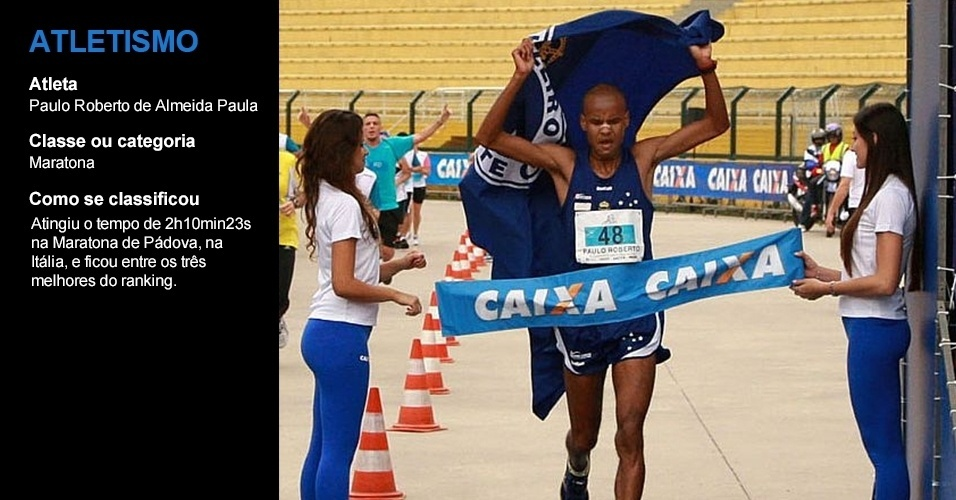 Paulo Roberto de Almeida, atletismo