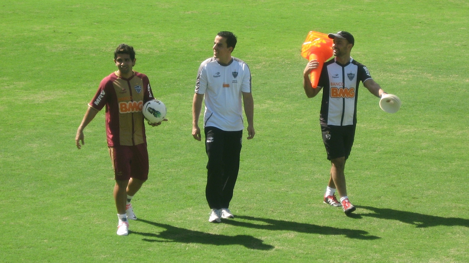 Atacante Guilherme participa de treino no Atlético-MG na Cidade do Galo (4/7/2012)