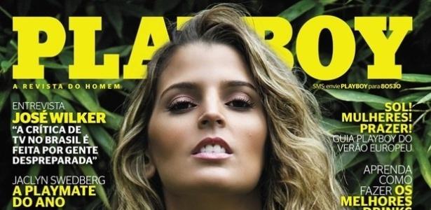 Capa da Playboy de Mari Paraíba, que prometeu um ensaio