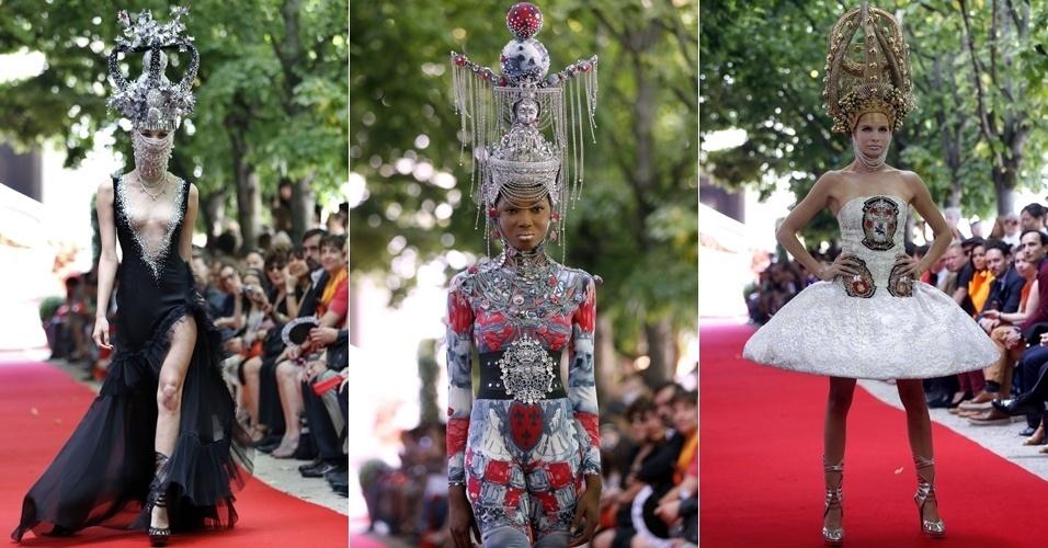 Looks de On Aura Tout Vu para o Inverno 2012 na semana de alta-costura de Paris (04/07/2012)