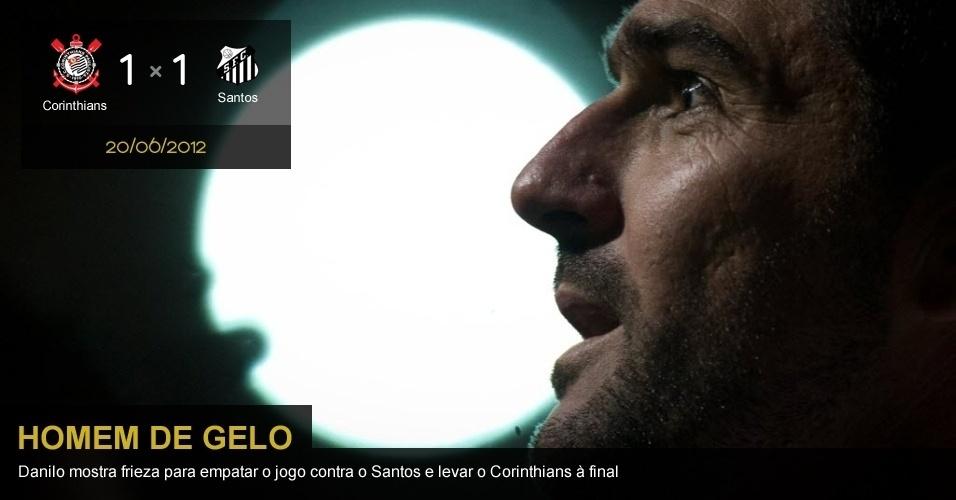 20/06/2012 - Corinthians 1 x 1 Santos: Danilo mostra frieza para empatar o jogo contra o Santos e levar o Corinthians à final