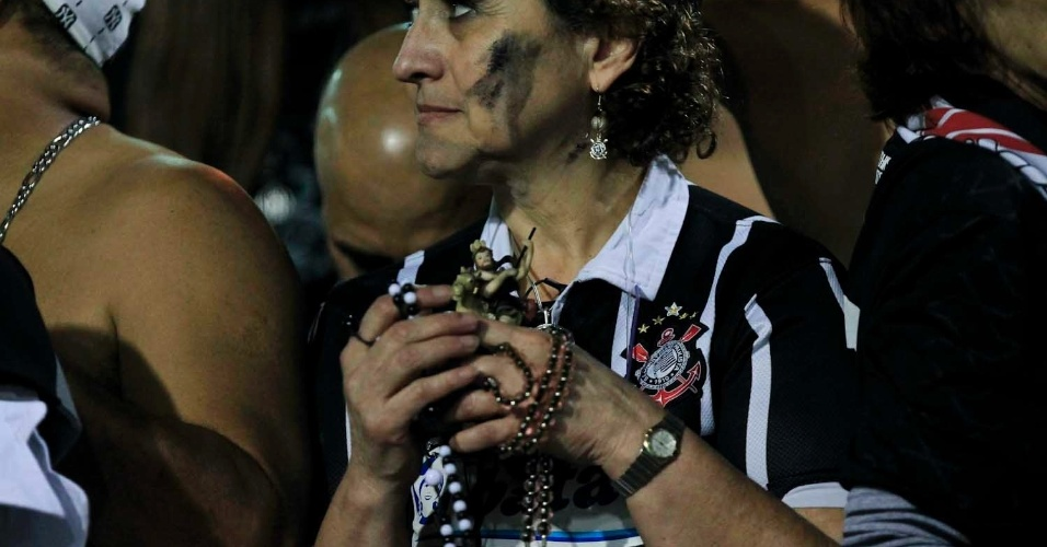 Corintiana durante segundo jogo da final da Libertadores contra o Boca Juniors, no Pacaembu