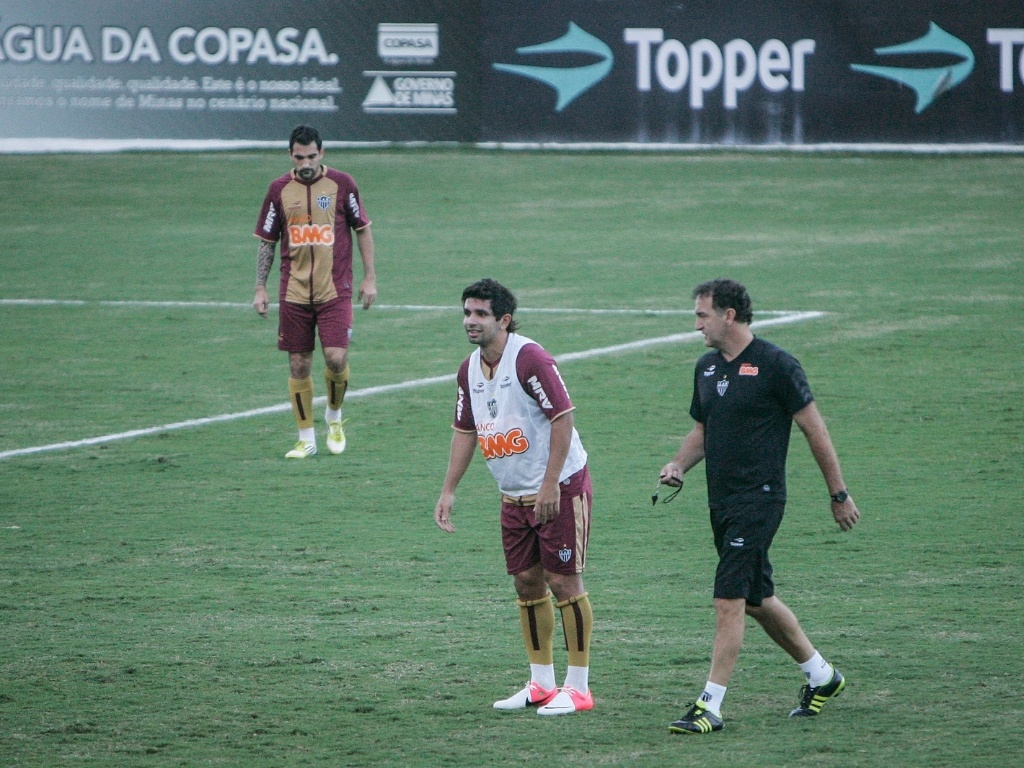 Guilherme e Cuca durante treino do Atltico-MG na Cidade do Galo (5/7/2012)