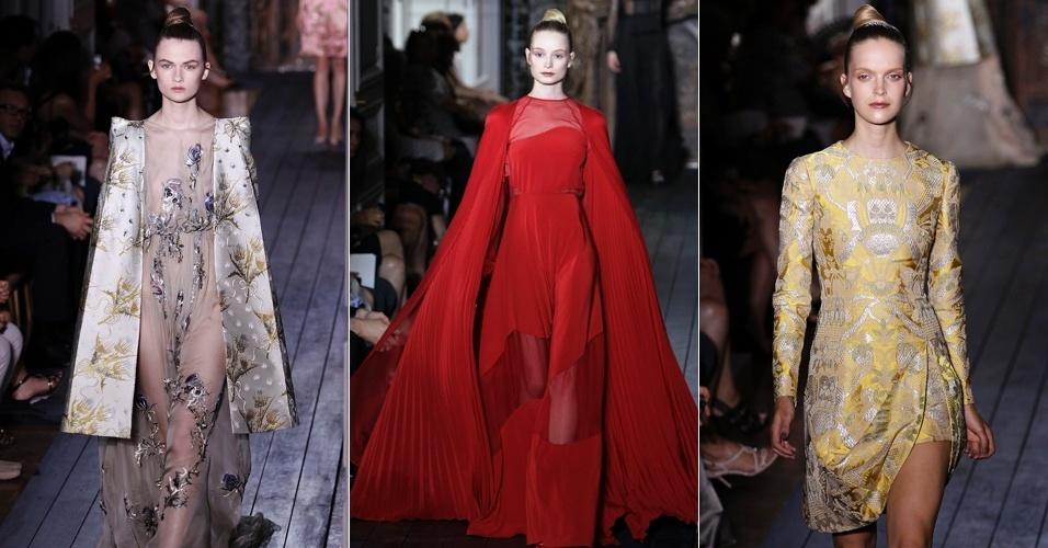 Looks de Valentino para o Inverno 2012 na semana de alta-costura de Paris (04/07/2012)