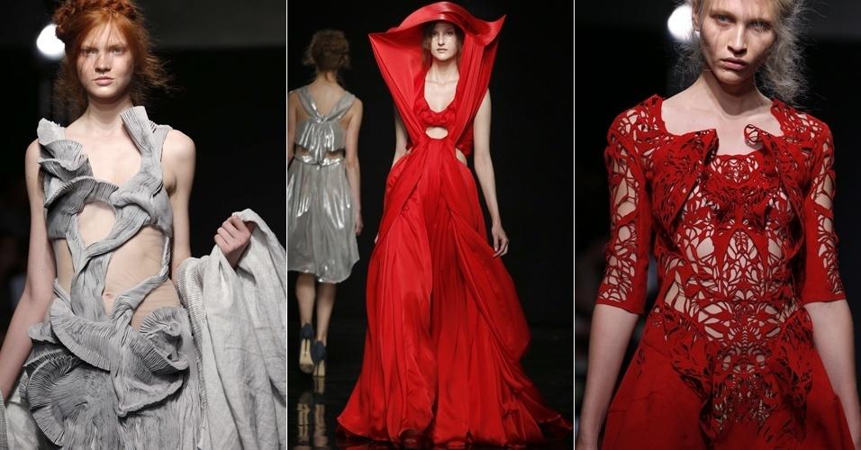 Looks de Yiqing Yin para o Inverno 2012 na semana de alta-costura de Paris (04/07/2012)
