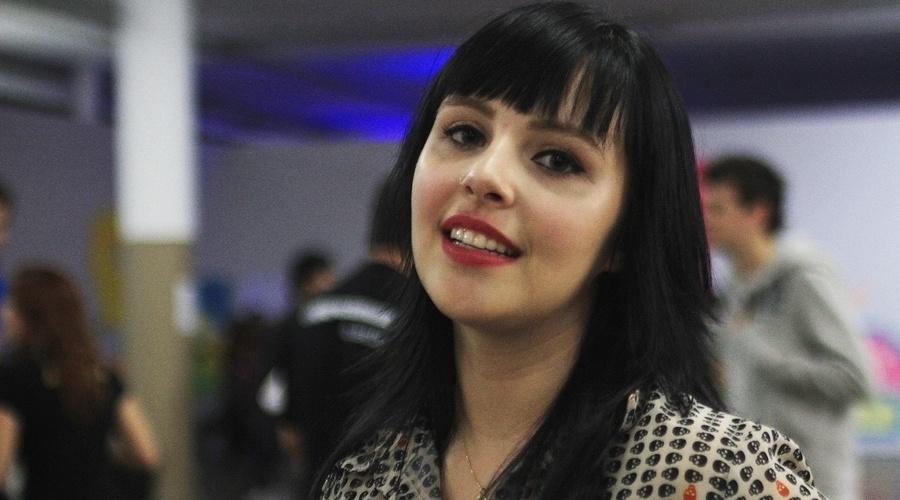 """Nathalia Minetto, que trabalha com mídias sociais, também participou do YouPix 2012 no ano passado. """"Venho sempre, pois é uma oportunidade para ver os amigos"""", disse"""