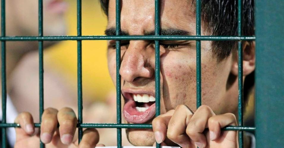 No Pacaembu, torcedor do Corinthians tenso em final contra o Boca Juniors