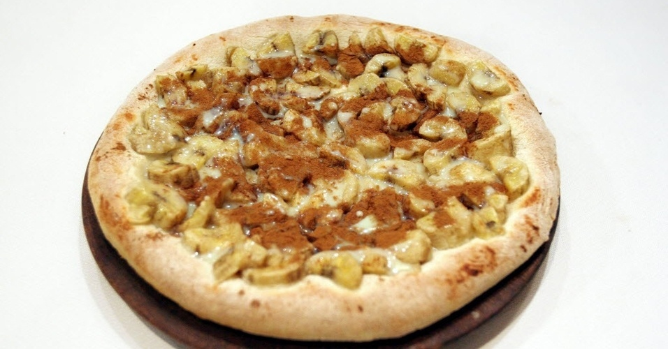 Pizza de Banana Com Canela Pizza de Banana