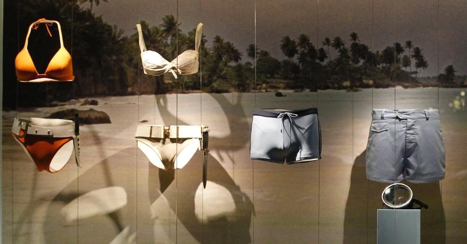 Roupas de banho usadas na franquia 007