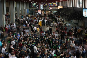 Aeroporto Internacional de Guarulhos, em São Paulo, um dos mais usados para voos internacionais