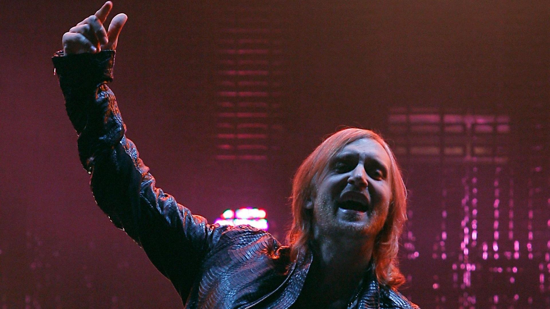 O DJ francês David Guetta se apresenta no Rock In Rio Madri, na Espanha (6/7/12)