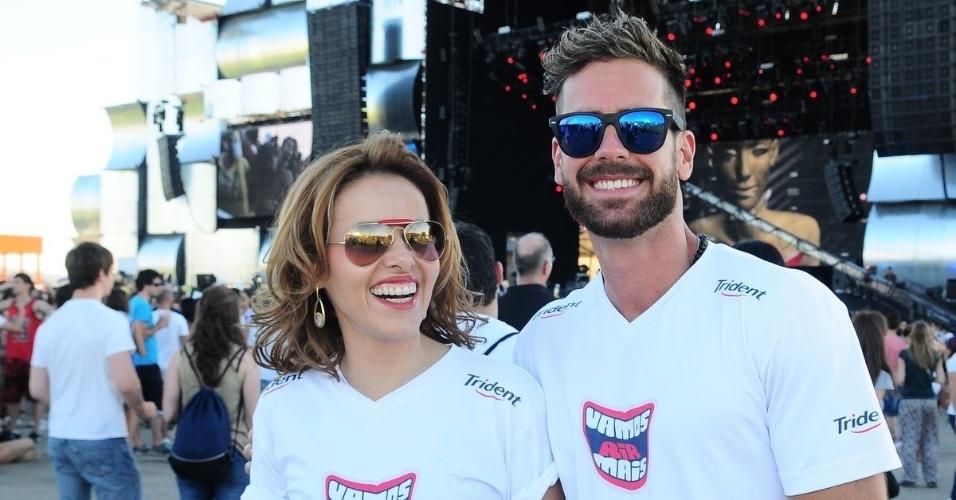Leona Cavalli e Marcos Pitombo curtem o Rock In Rio Madri (7/7/2012)