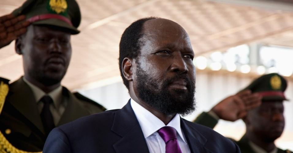 9.jul.2012 - Presidente do Sudão do Sul, Salva Kiir, participa de celebração na capital Juba que marca o primeiro aniversário de independência do país