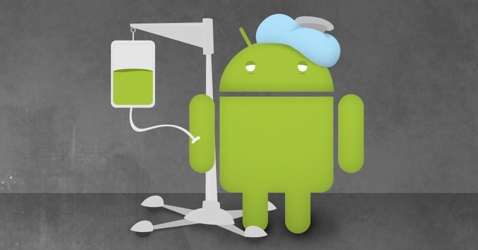 Android doente soro vírus