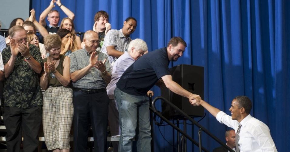 10.jul.2012- Presidente dos Estados Unidos e candidato à reeleição,  Barack Obama
