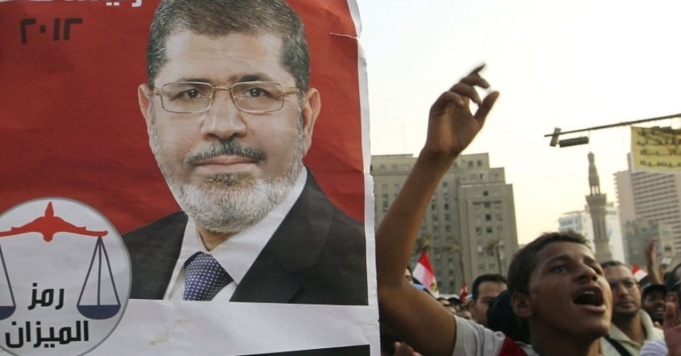 10.jul.2012- Simpatizantes do presidente egípcio, Mohamed Morsi