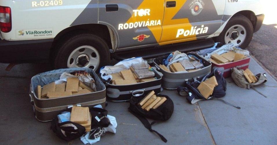 Adolescente são pegos em Penápolis (SP) com mais de 100 quilos de maconha em malas e mochilas durante viagem de ônibus