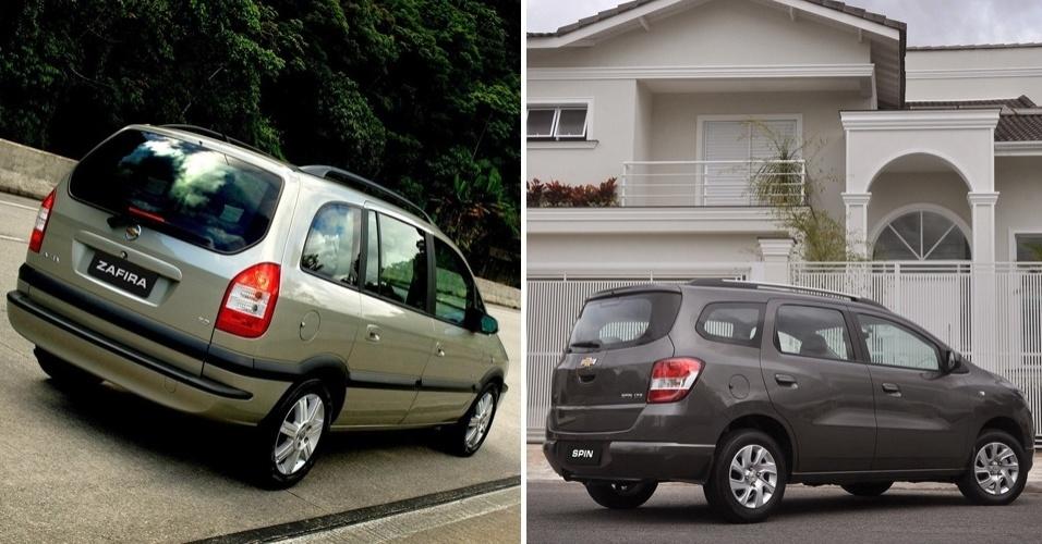 Chevrolet Zafira podia não ser moderna, mas era equilibrada e não parecia amassada, como a Spin
