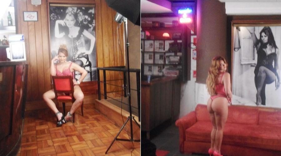 Geisy Arruda divulgou por meio de sua página do Twitter imagens de um ensaio sensual (10/7/12)