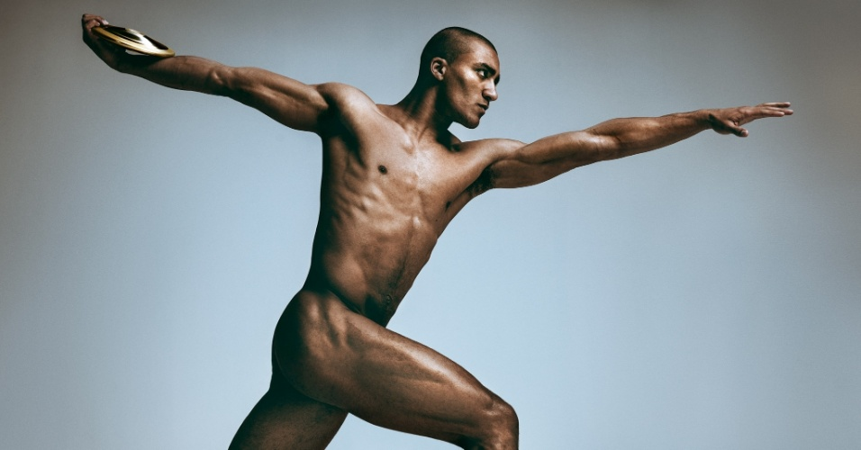 "O americano Ashton Eaton, que compete no decatlo, na edição da revista ""ESPN - Body Issue"""
