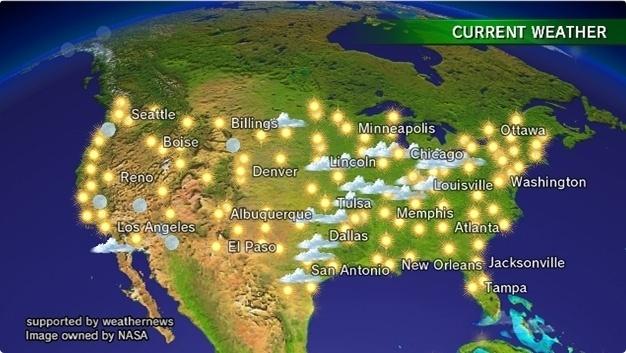 Outra função online do Wii é o Weather Channel, que permite ver a previsão do tempo pelo mundo