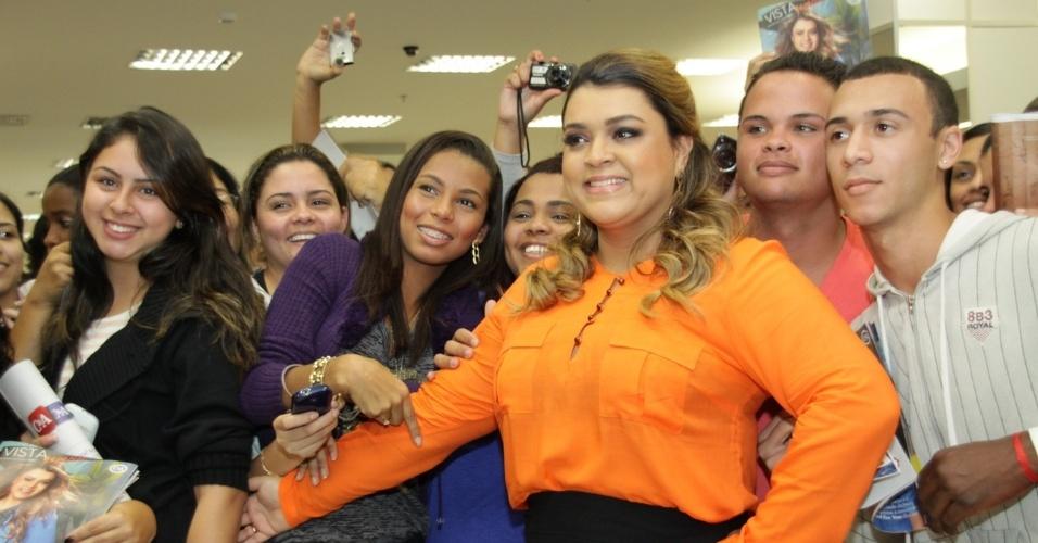 Preta Gil lançou coleção de roupas plus size em uma loja em um shopping da zona oeste do Rio (10/7/12)