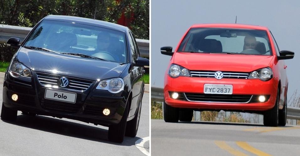 Volkswagen Polo (na versão E-Flex) até 2011 e com grade nova