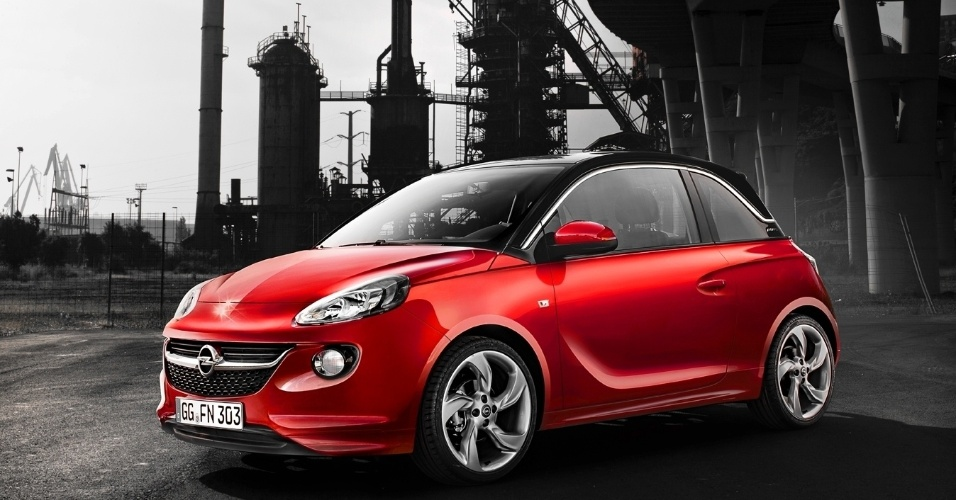 Assim como no Citroën DS3, a cor da carroceria e o teto do Adam podem ser diferentes, além do formato das rodas e o revestimento do interior