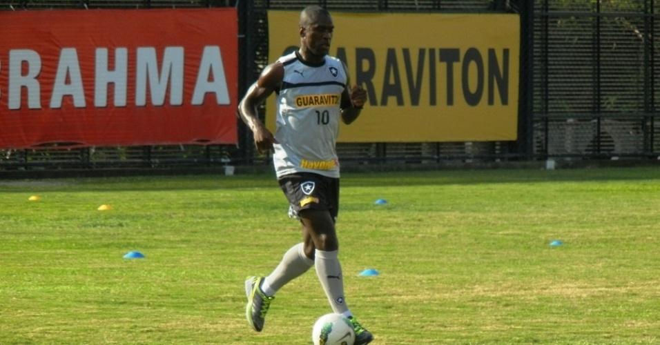 Seedorf demnstrou categoria em seu primeiro contato com bola no Botafogo