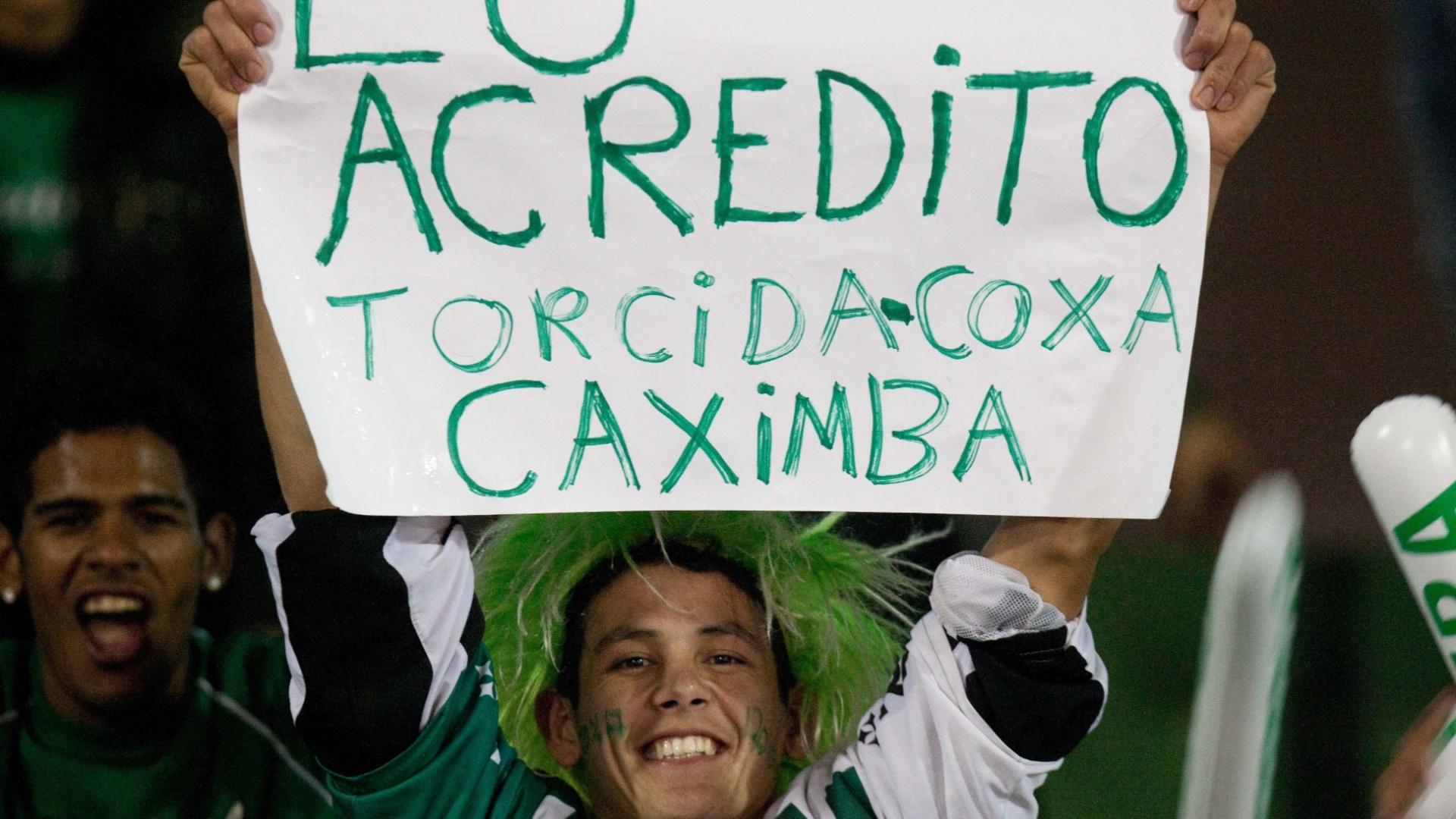 Torcedor do Coritiba se mostra otimista nas chances de sua equipe conquistar o título da Copa do Brasil contra o Palmeiras