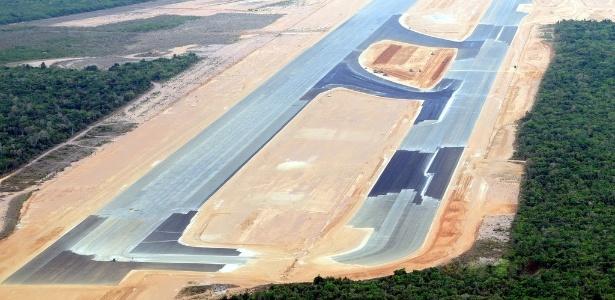 Vista aérea da área onde deve ser construído o novo aeroporto de Natal (junho/2012)