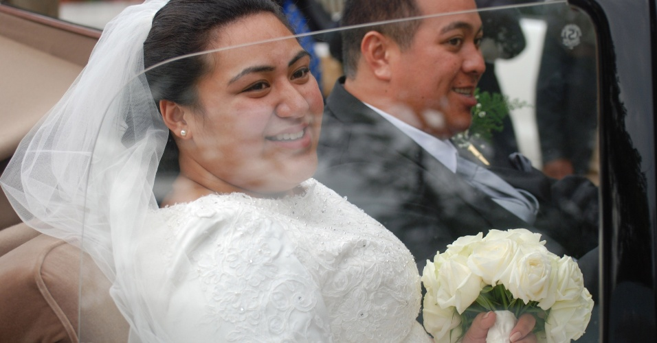 12.jul.2012 - O pr&#237;ncipe de Tonga Tupouto&#39;a Ulikalala casou-se nesta quinta-feira (12) com a professora Sinaitakala Fakafanua. A quinta-feira foi declarada feriado nacional por conta da cerim&#244;nia