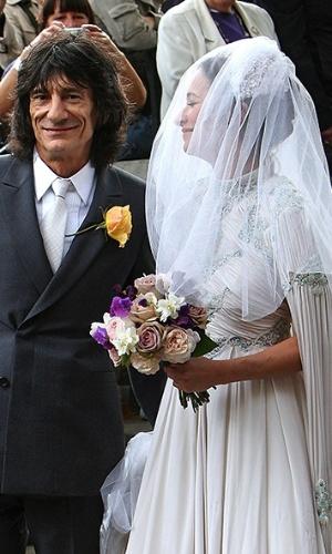 Imagem do casamento de Leah Wood, filha de Ronnie Wood, guitarrista dos Rolling Stones