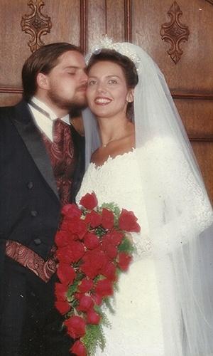 Imagem do casamento de Patricia Kisser e Andre Kisser, guitarrista da banda Sepultura