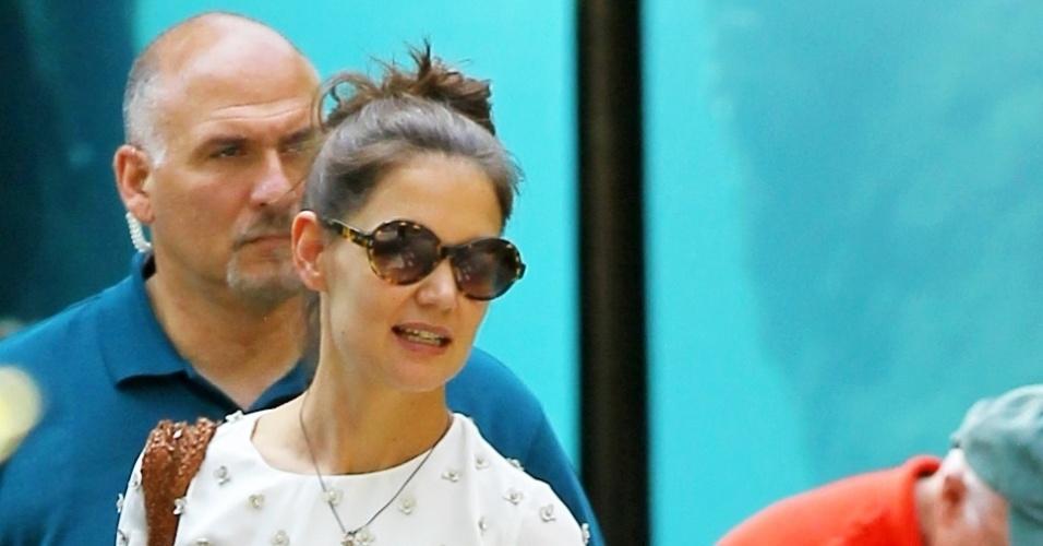 Katie Holmes e a filha Suri Cruise se divertiram no Central Park Zoo em Nova York (11/7/12)