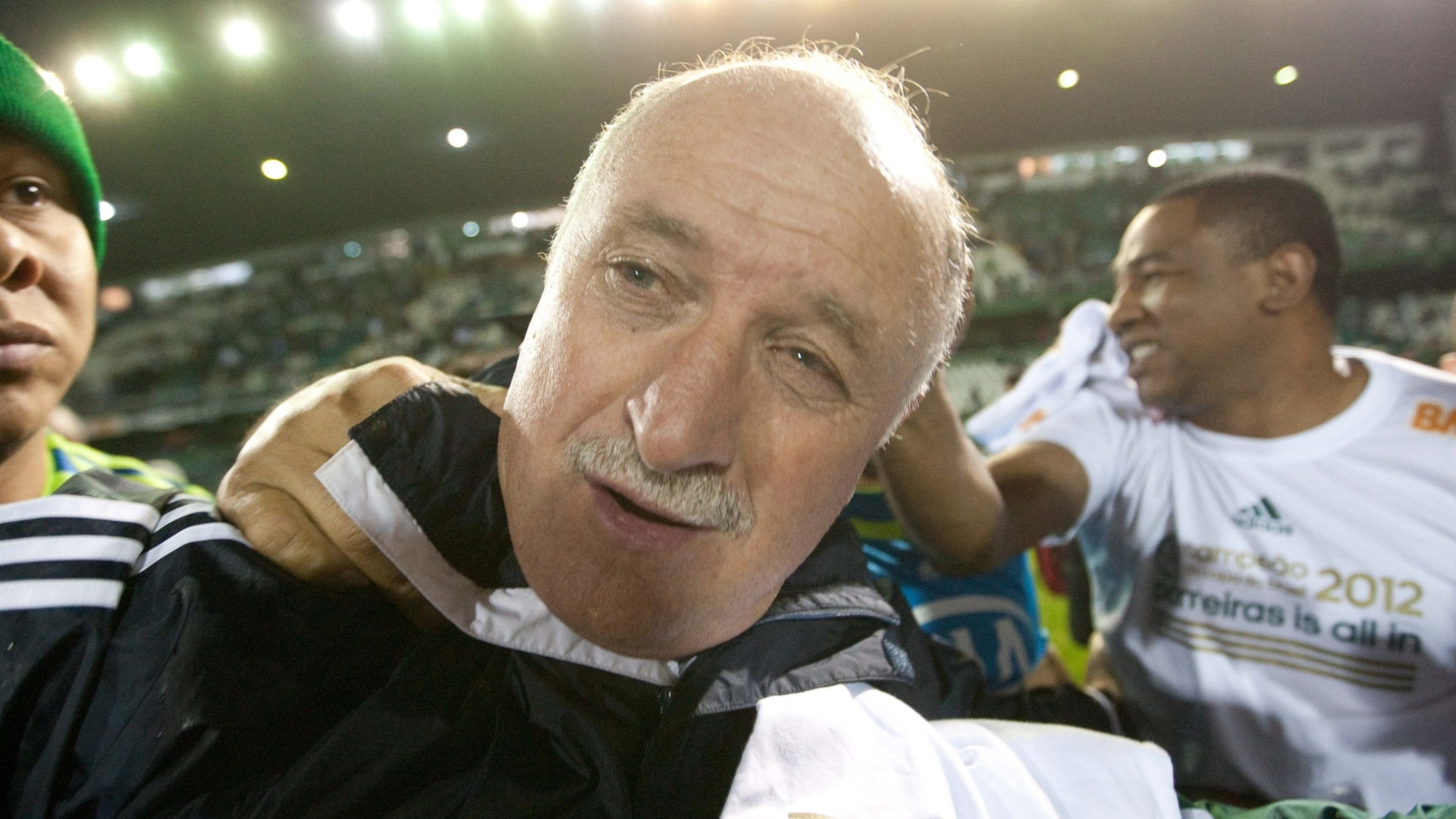 Luiz Felipe Scolari comemora a conquista do ttulo da Copa do Brasil pelo Palmeiras
