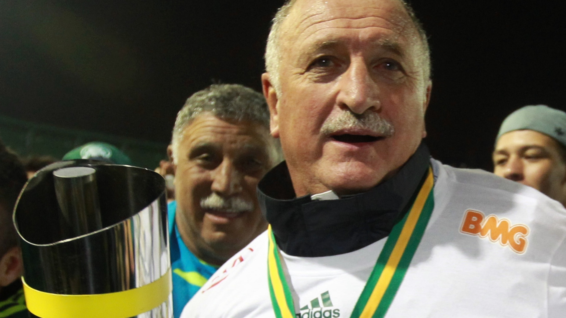 Luiz Felipe Scolari comemora conquista do ttulo da Copa do Brasil pelo Palmeiras