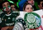 Torcedores do Palmeiras comemoram bi da Copa do Brasil