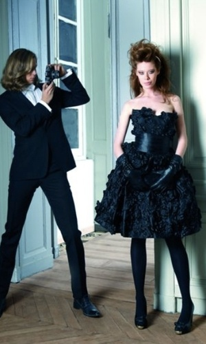 Imagem do vestido de noiva preto da grife Max Chaoul