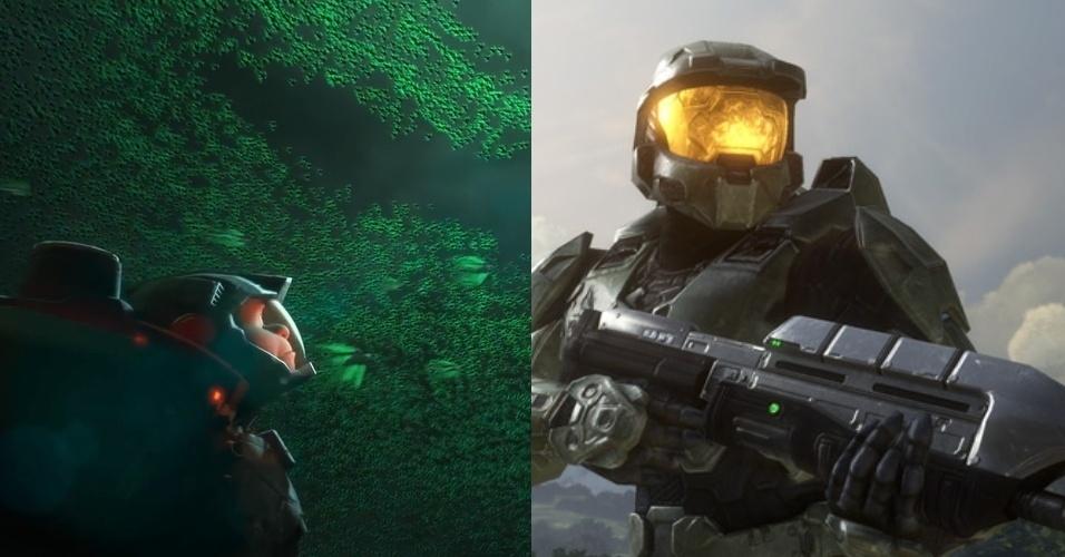 """A armadura de Ralph em """"Hero's Duty"""" lembra a de Master Chief, de """"Halo"""""""