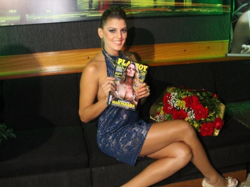 A Playboy organizou uma festa na noite de quinta-feira no Rio de Janeiro para lançar oficialmente sua edição de julho, com a jogadora de vôlei Mari Paraíba na capa (12/07/2012)