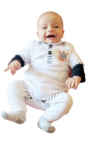 Foto Florido bebê - macacão Corinthians