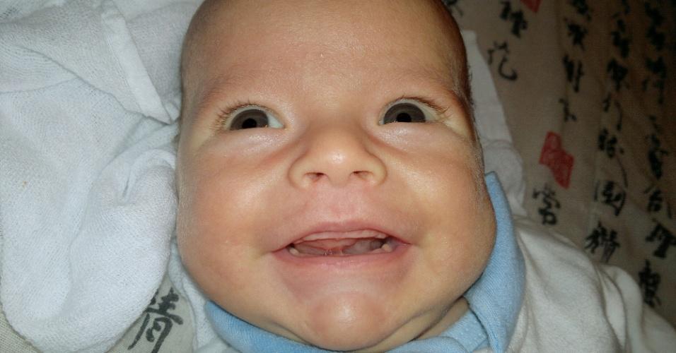 Foto Florido bebê - sorriso