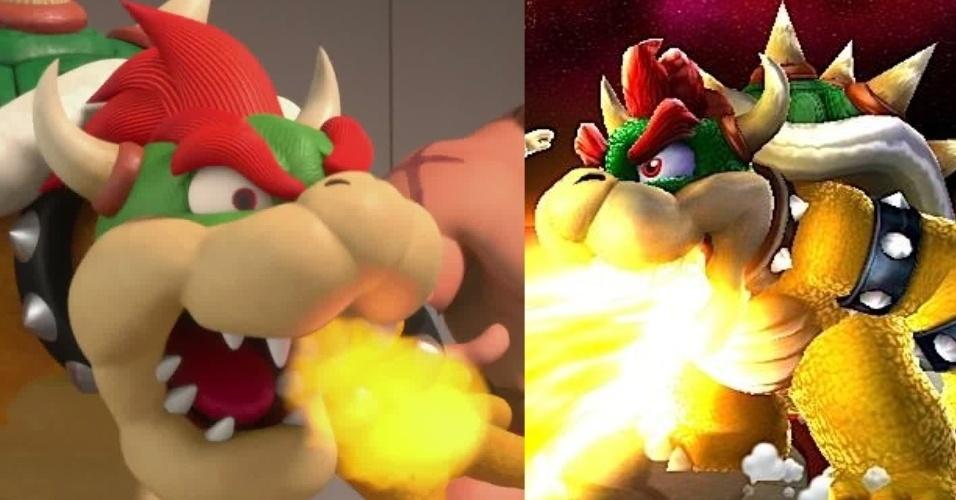 Grande algoz de Mario, Bowser cospe fogo tanto no filme, quanto no jogo