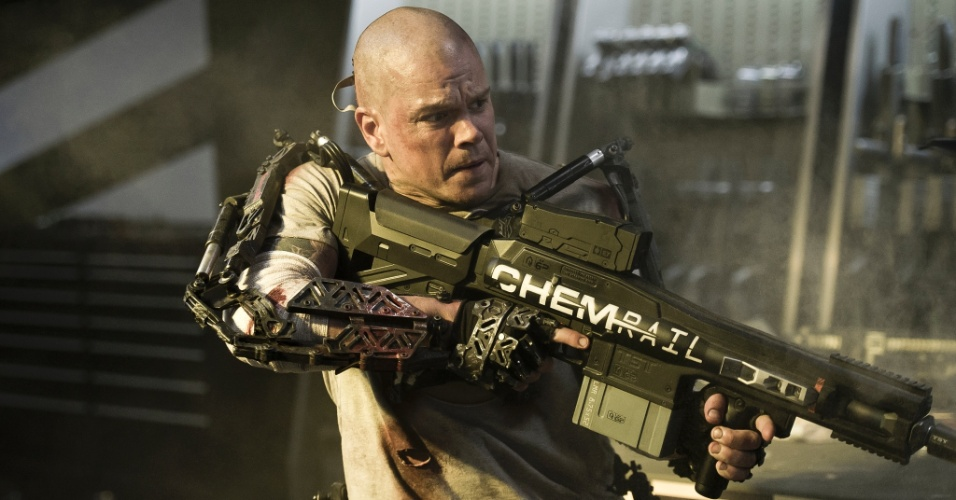 Matt Damon em cena do filme Elysium, de Neil Blomkamp