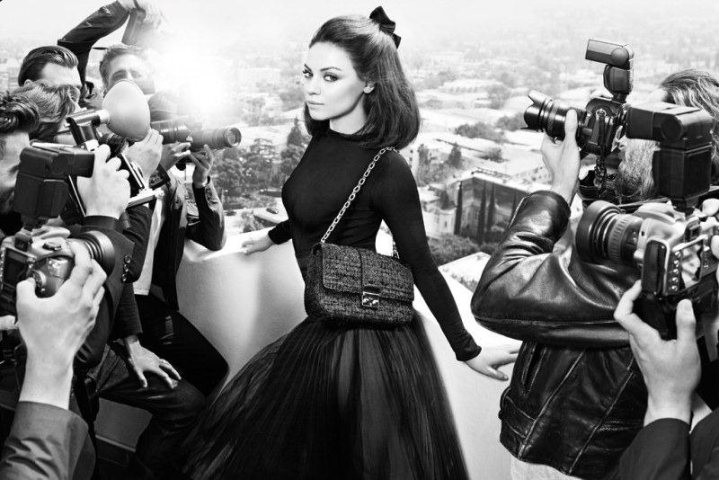 Mila Kunis em campanha da bolsa Miss Dior para o Inverno 2012
