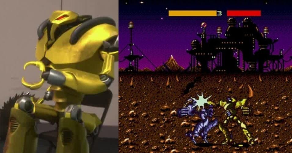 """O robô amarelo veio do pouco conhecido """"Cyborg Justice"""" de Mega Drive"""