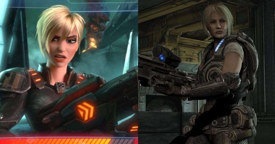 """Personagem de um jogo de tiro em primeira pessoa, Sergeant Calhoun lembra Anya Stroud, de """"Gears of War 3"""""""