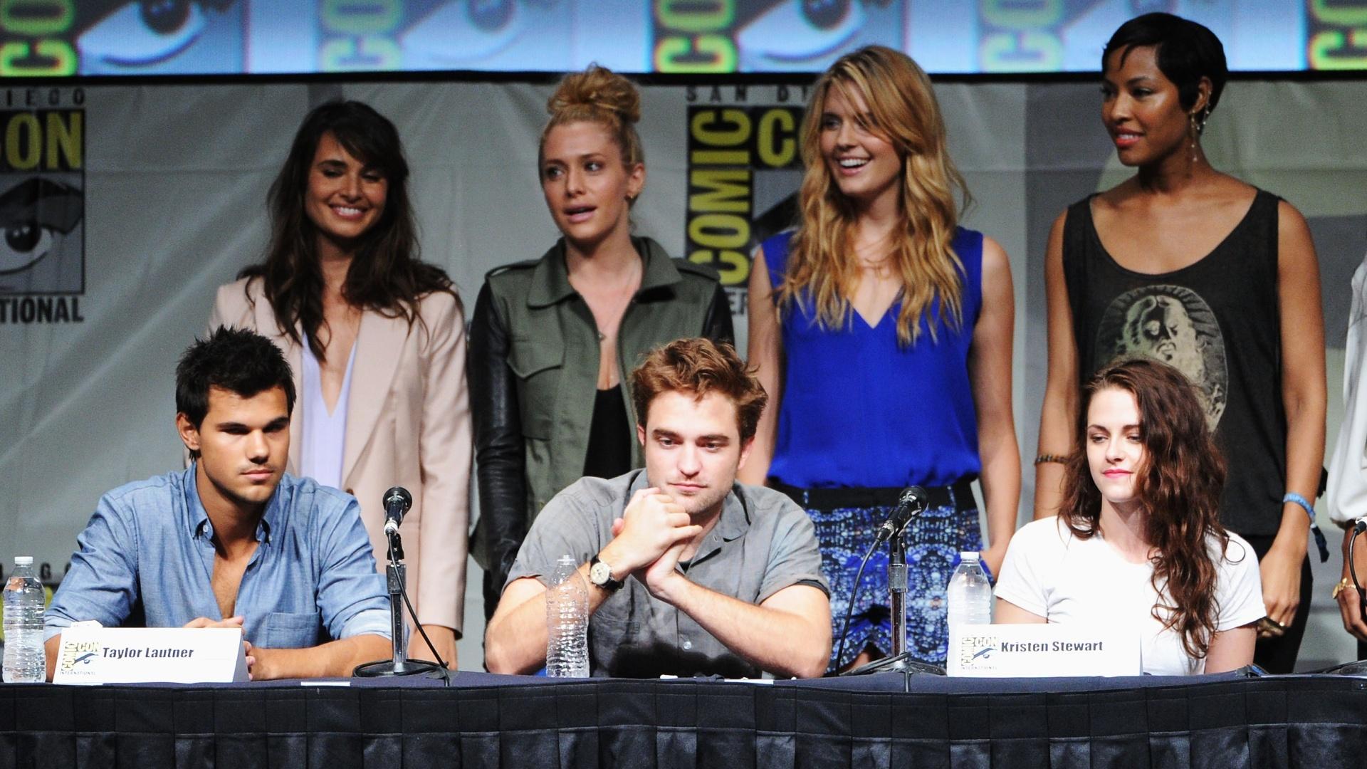 Taylor Lautner, Robert Pattinson e Kristen Stewart da saga