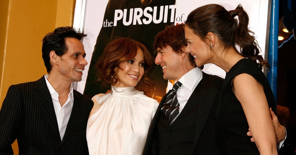 Marc Anthony, Jennifer Lopez (à esq), Tom Cruise e Katie Holmes (7/12/06)